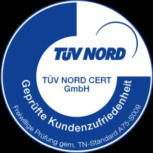 TÜV-Siegel für Kundenzufriedenheit